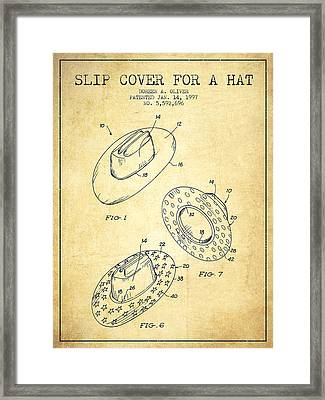 Slip Cover For A A Hat Patent From 1997 - Vintage Framed Print
