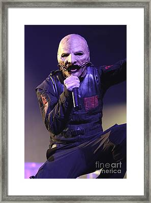 Slipknot Singer Corey Taylor Framed Print
