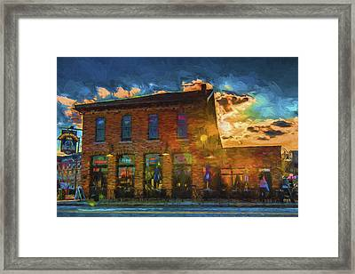 Slippery Noodle Inn Indianapolis Indiana Painted Digitally Framed Print by David Haskett