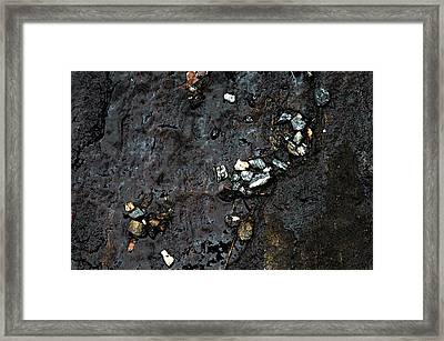 Framed Print featuring the photograph Slippery Rock  by Allen Carroll