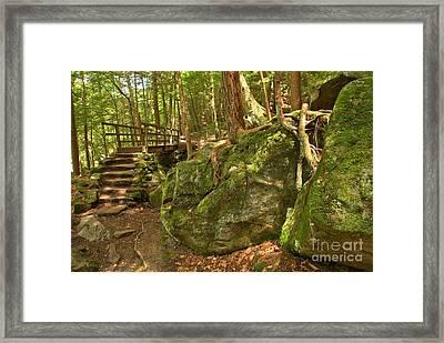 Slippery Rock Creek Bridge Framed Print by Adam Jewell