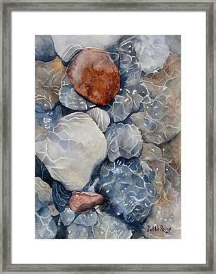 Slippery When Wet Framed Print by Bobbi Price