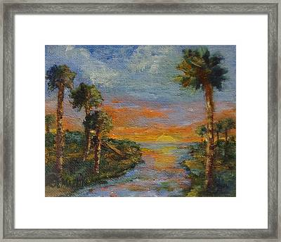 Slipping Away Framed Print by Annie St Martin