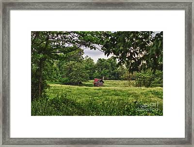 Slipping Away Framed Print by Cris Hayes