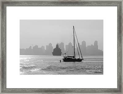 Slipping Into Port 5-2628-2 Framed Print by Stephen Parker