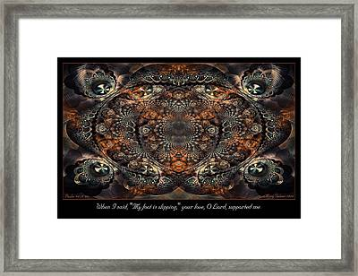 Slipping Framed Print