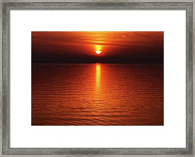 Framed Print featuring the photograph Slipp'n Into Darkness by Kathi Mirto
