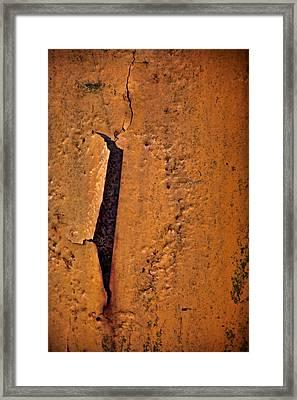 Slit Framed Print by Odd Jeppesen