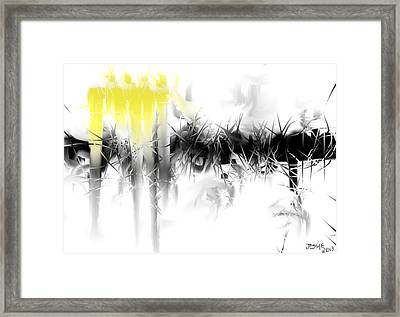 Framed Print featuring the digital art Sliver by Jessica Wright