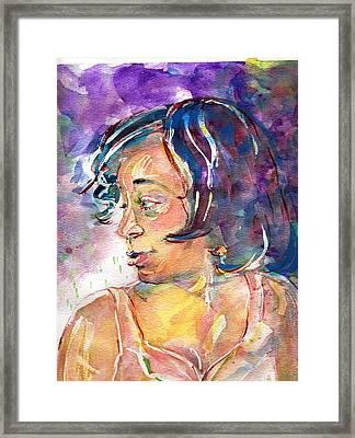 Sloane Framed Print by Ramona Wright