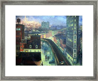 Sloan's The City From Greenwich Village Framed Print