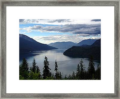 Slocan Lake Looking North Framed Print