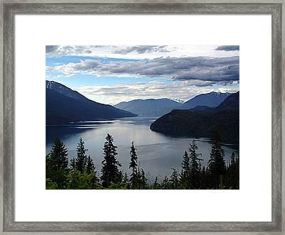 Slocan Lake Looking North Framed Print