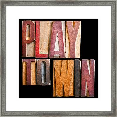 Slogan Play To Win Framed Print