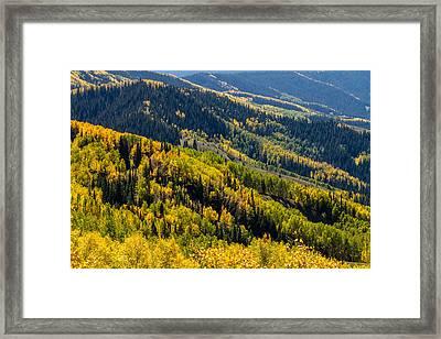 Slopes Of Color Framed Print