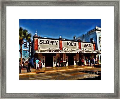 Sloppy Joe's Bar Framed Print by Joan  Minchak