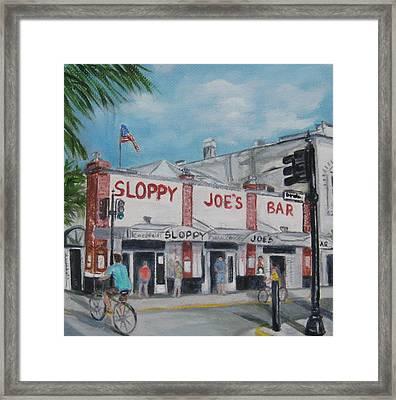 Sloppy Joe's Framed Print