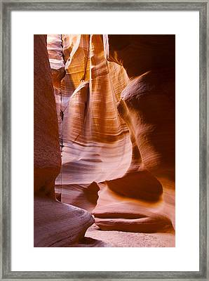 Slot Canyon 3 Framed Print by T C Brown