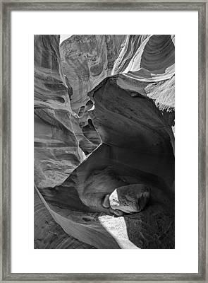 Slot Canyons In Black And White  Framed Print by Saija  Lehtonen
