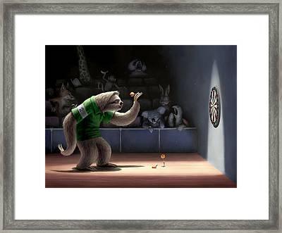Sloth Darts Framed Print