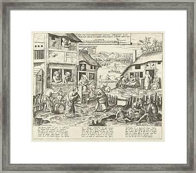 Sloths, Frans Huys, Cornelis Massijs, Joannes Galle Framed Print