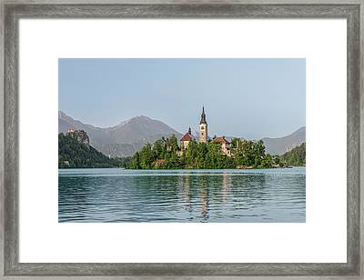 Slovenia, Bled, Bled Island (large Framed Print by Rob Tilley