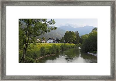 Slovenia. Houses Framed Print