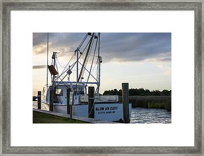 Framed Print featuring the photograph Slow An Easy by Gregg Southard