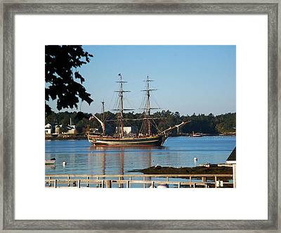 Slow As She Goes Framed Print
