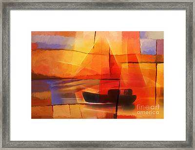 Slow Boat Framed Print by Lutz Baar