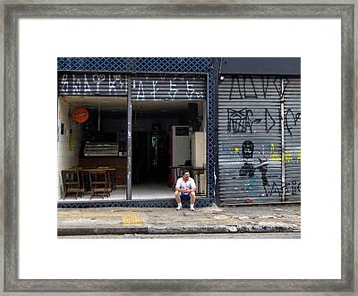 Slow Day At The Office - Sao Paulo Framed Print by Julie Niemela