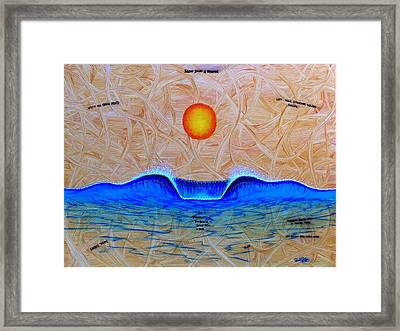Slow Down And Breathe Framed Print