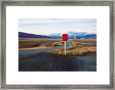 Slow Down Framed Print