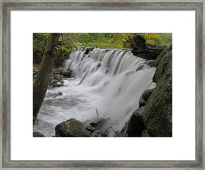 Framed Print featuring the photograph Slow Fall by Nikki McInnes
