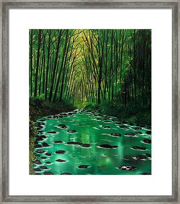 Slow Motion Framed Print by Lisa Aerts