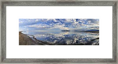 Slow Ripples Over The Shallow Waters Of The Great Salt Lake Framed Print