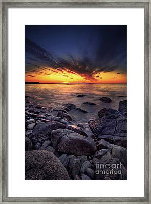 Slow Rise Framed Print by Marco Crupi