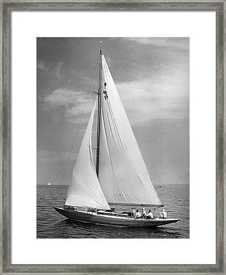 Slow Sailing In A Breeze Framed Print