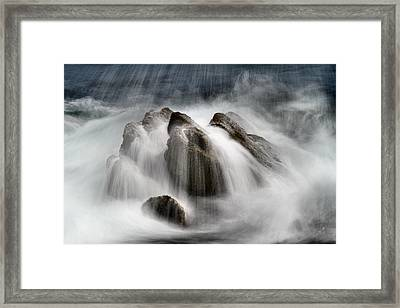 Slow Surf Framed Print by Acadia Photography