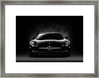 Framed Print featuring the digital art Sls Black by Douglas Pittman