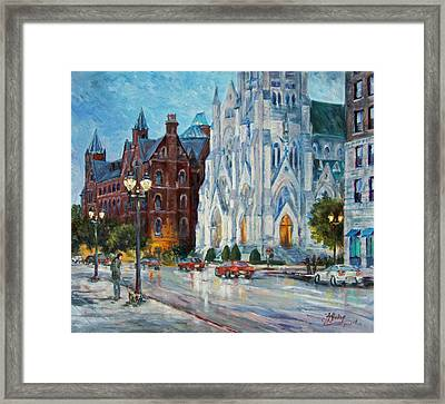 Slu And College Church Framed Print