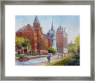 Slu Gate Grand Blvd Saint Louis Framed Print by Irek Szelag