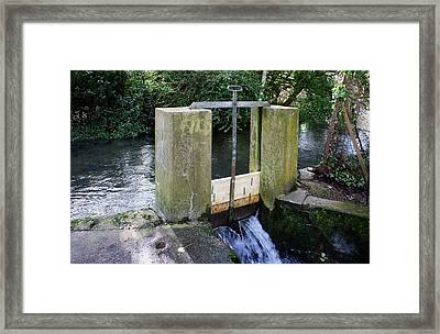 Sluice Gate Framed Print by Sheila Terry