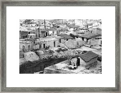 Slum Houses Framed Print by Jagdish Agarwal