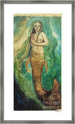 Slumbering Natural Siren Framed Print by Linda Olsen