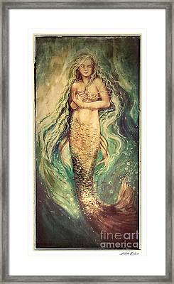 Slumbering Siren Illustration Framed Print