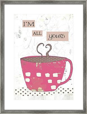 Slutty Valentine Coffee IIi Framed Print