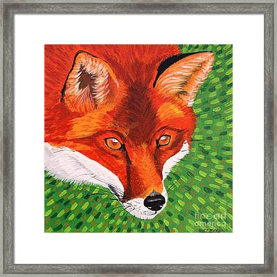 Sly Mr. Fox Framed Print by Vicki Maheu