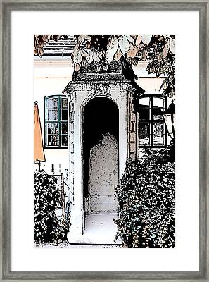 Framed Print featuring the photograph Small Alcove by Cecil Fuselier