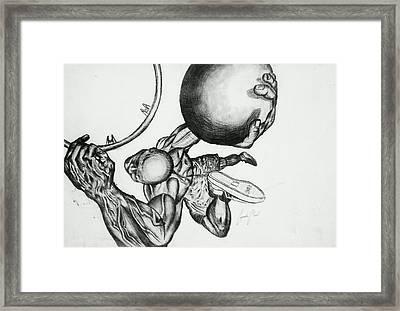 Small Ball Dunking Framed Print by Cepada Cloud